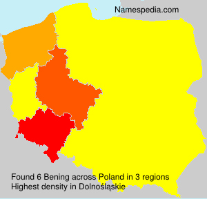 Surname Bening in Poland