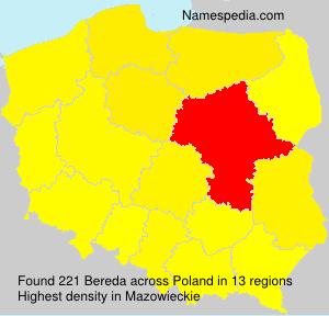 Surname Bereda in Poland