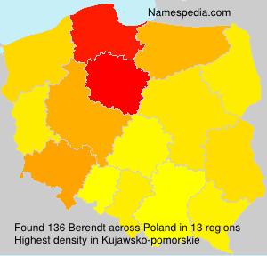 Surname Berendt in Poland