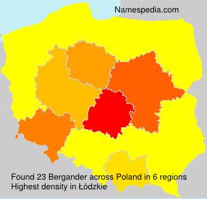 Surname Bergander in Poland