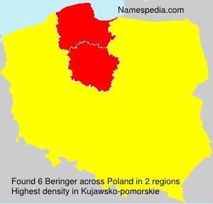 Surname Beringer in Poland
