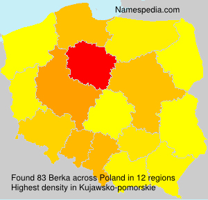 Surname Berka in Poland