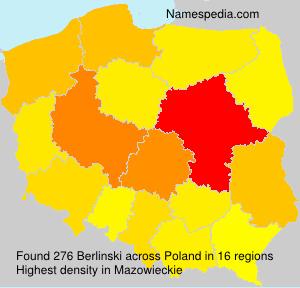 Surname Berlinski in Poland