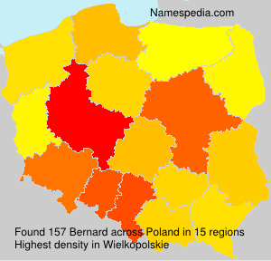 Surname Bernard in Poland