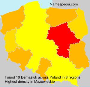 Familiennamen Bernasiuk - Poland