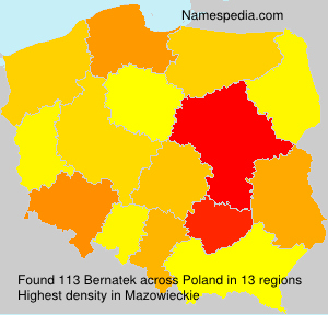 Familiennamen Bernatek - Poland