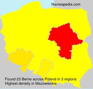 Surname Berne in Poland