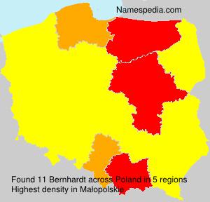 Surname Bernhardt in Poland