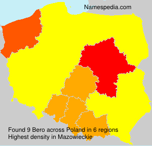 Surname Bero in Poland