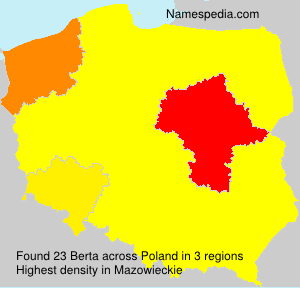 Surname Berta in Poland