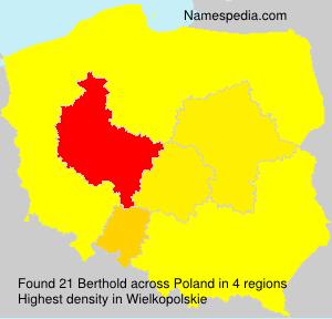 Surname Berthold in Poland