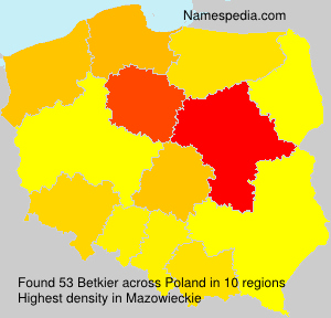 Familiennamen Betkier - Poland