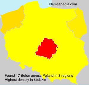Surname Beton in Poland