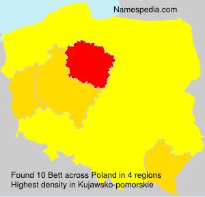 Familiennamen Bett - Poland