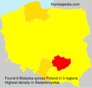 Surname Bialacka in Poland