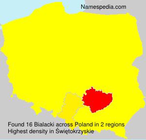 Surname Bialacki in Poland