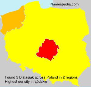 Surname Bialasiak in Poland