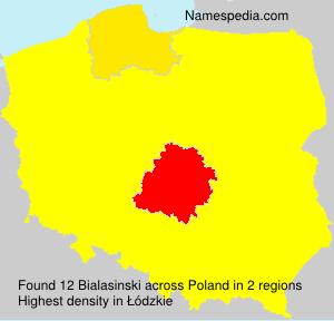 Surname Bialasinski in Poland