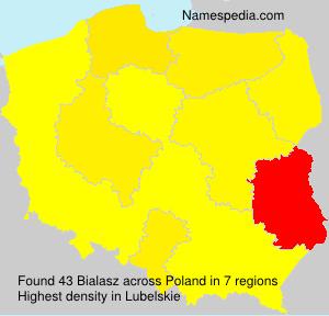Surname Bialasz in Poland
