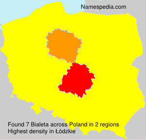 Surname Bialeta in Poland