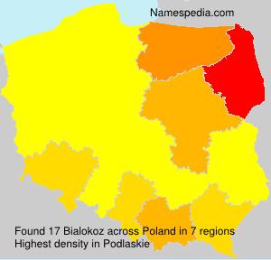 Surname Bialokoz in Poland