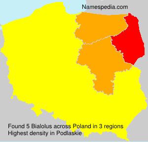 Surname Bialolus in Poland