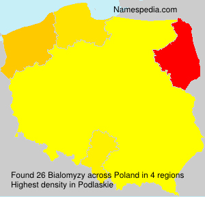 Surname Bialomyzy in Poland