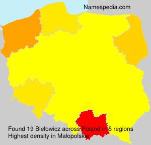Familiennamen Bielowicz - Poland
