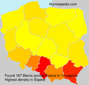 Surname Bienia in Poland
