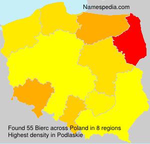 Surname Bierc in Poland