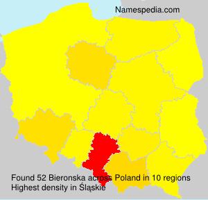 Surname Bieronska in Poland