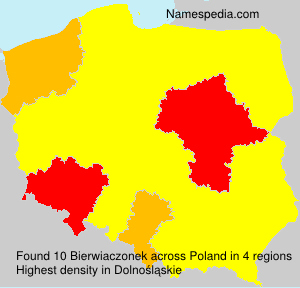 Surname Bierwiaczonek in Poland
