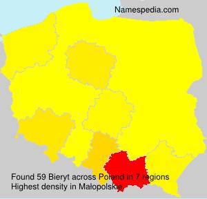 Surname Bieryt in Poland