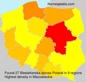 Familiennamen Biesiekierska - Poland
