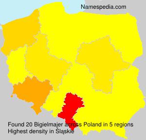 Surname Bigielmajer in Poland