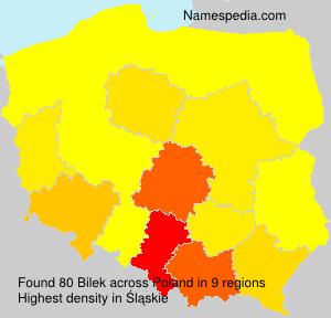 Familiennamen Bilek - Poland