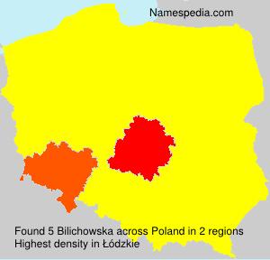 Surname Bilichowska in Poland