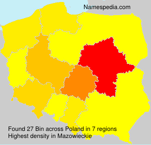 Familiennamen Bin - Poland