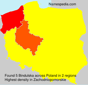 Surname Bindulska in Poland