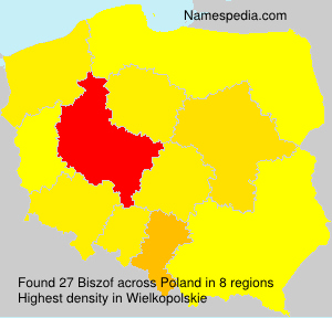 Surname Biszof in Poland