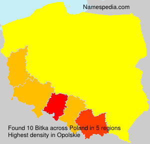 Surname Bitka in Poland
