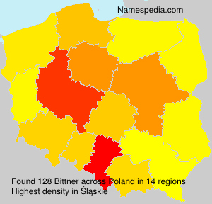 Surname Bittner in Poland