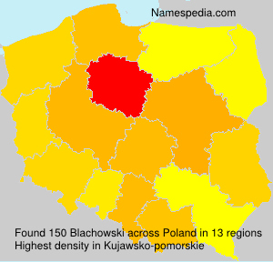 Surname Blachowski in Poland