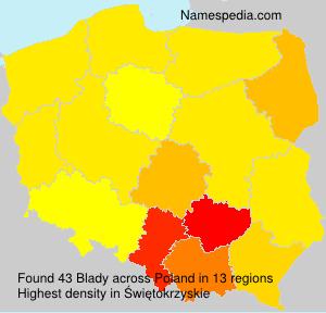 Familiennamen Blady - Poland