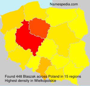 Surname Blaszak in Poland