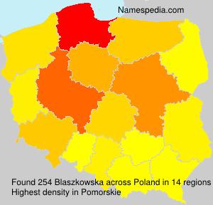 Surname Blaszkowska in Poland