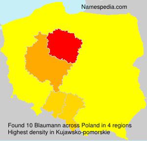 Surname Blaumann in Poland