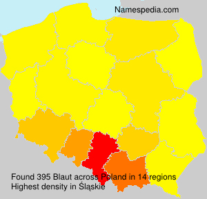 Familiennamen Blaut - Poland