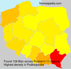 Surname Blaz in Poland