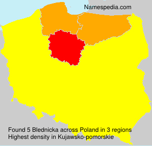 Surname Blednicka in Poland